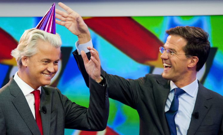Geert Wilders mit Mark Rutte
