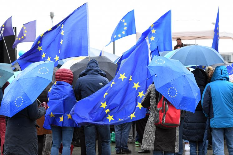 Demonstration von Pulse of Europe für ein vereintes Europa