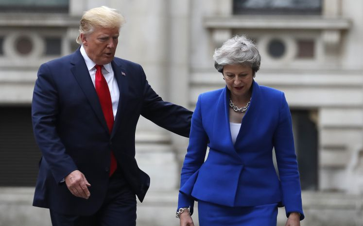 Donald Trump und Theresa May