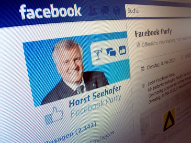 Horst Seehofer-Facebookparty