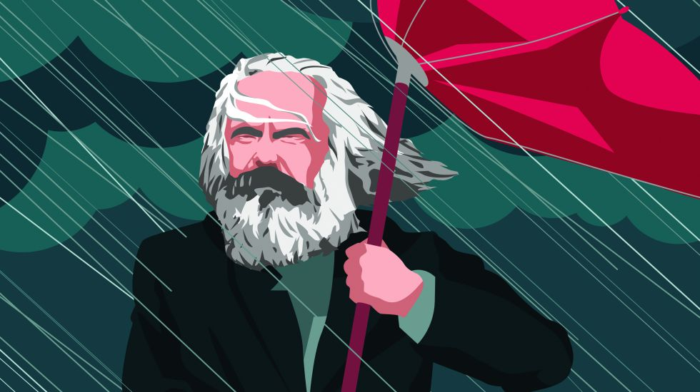Illustration von Karl Marx