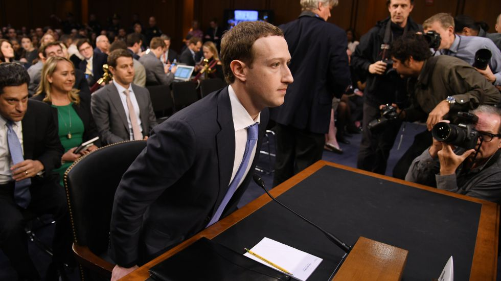 Facebook-Chef Mark Zuckerberg vor dem US-Kongress