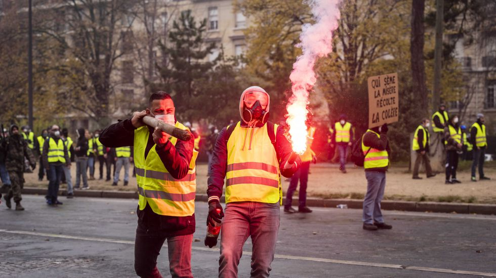 Gelbe Westen Protest in Paris