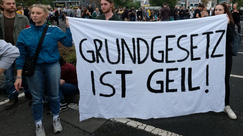Demonstranten in Chemnitz